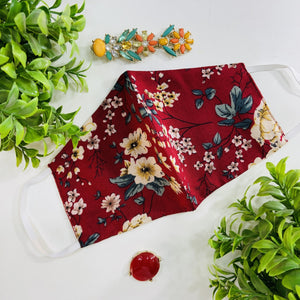 Maskforme.in Vintage Floral White / Red / Black ( Set of 3 )