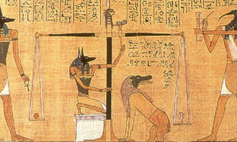 Anubis And Dog Ancient Egypt