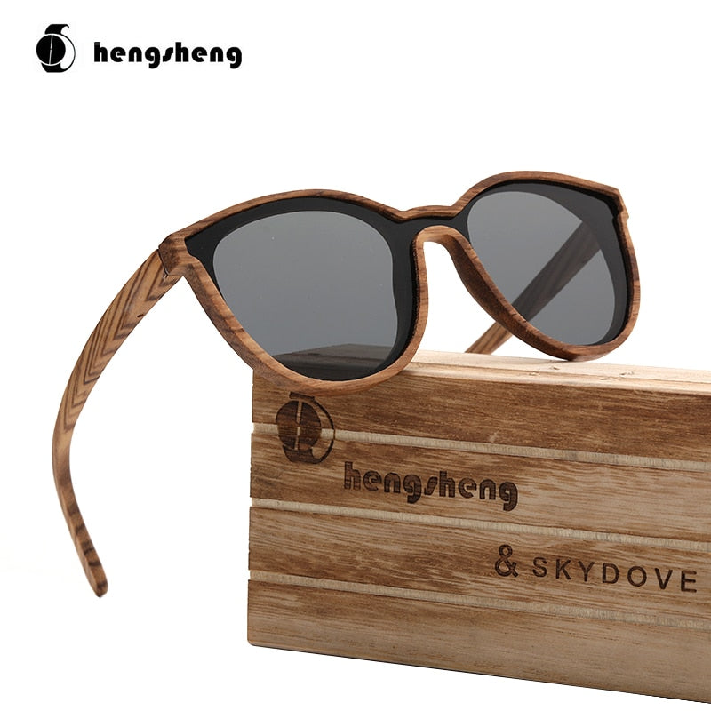 Goggle Zebra Wood Sunglasses Custom Black  Sunglasses Women Brand Sunglasses 2020 For Man