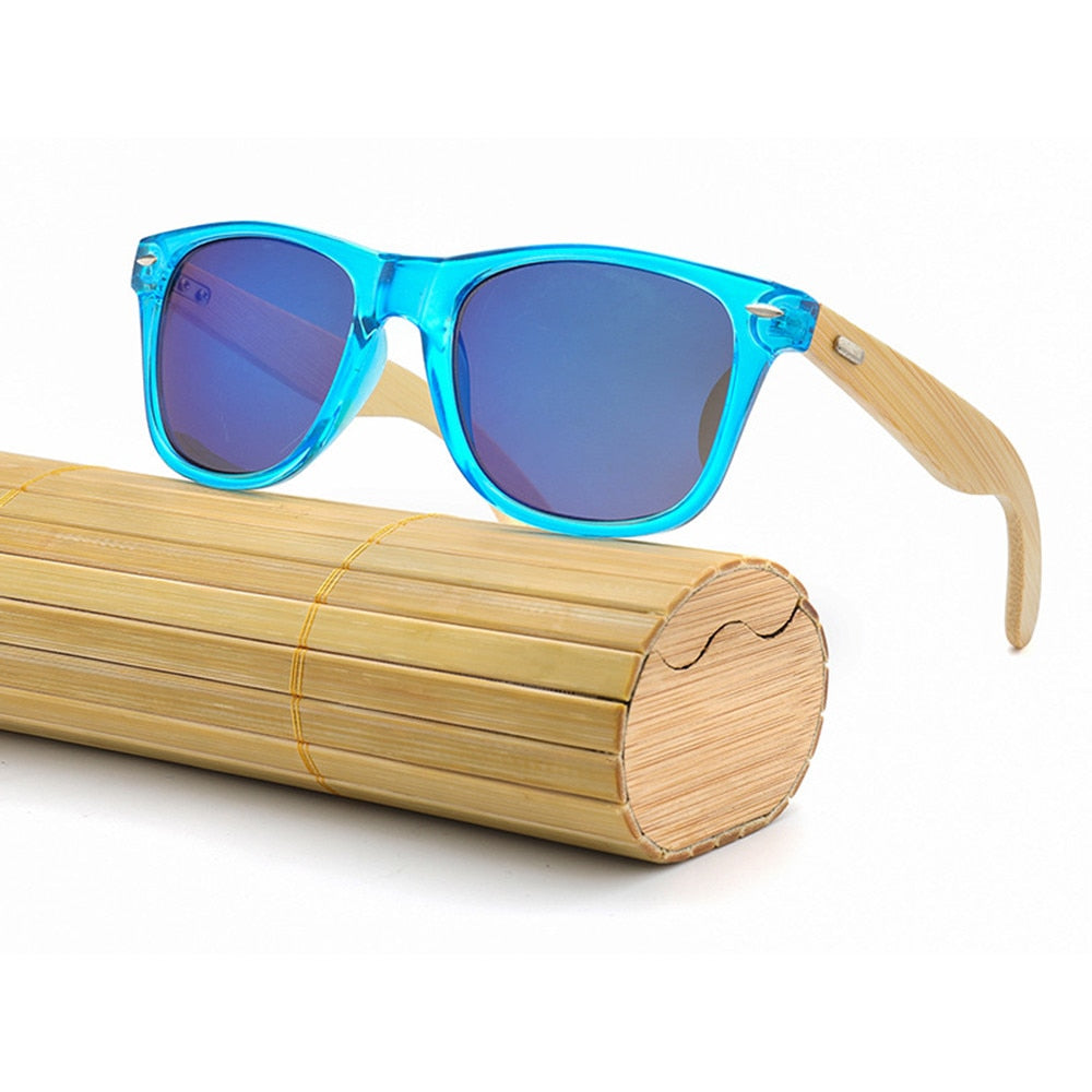 New Bamboo UV400 Outdoor Road Cycling Eyewear Sports Cycling Sunglasses Wooden Wood Men Women Bike Bicycle Glasses Goggles
