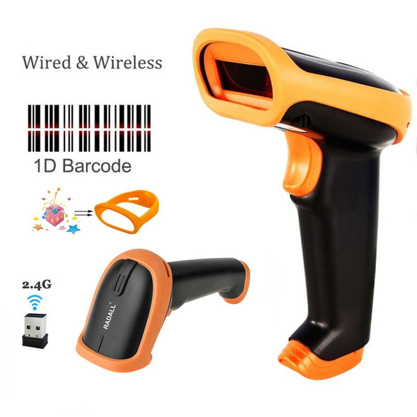 Wireless Barcode Scanner 2.4G 30m For POS and Inventory