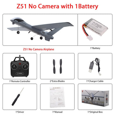 RC Airplane Z51 Gliders 2.4G 2CH with LED Hand Throwing