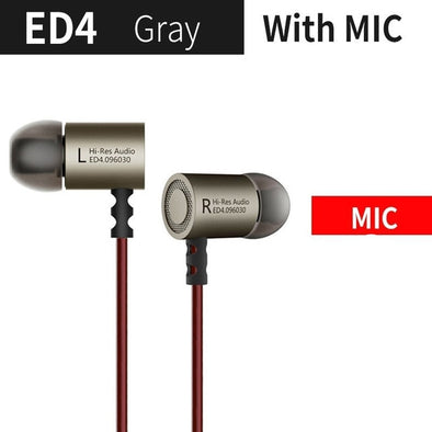 Metal Stereo Earphone with Noise Isolating Feature
