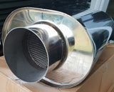 "Stainless race 4"" big bore muffler"