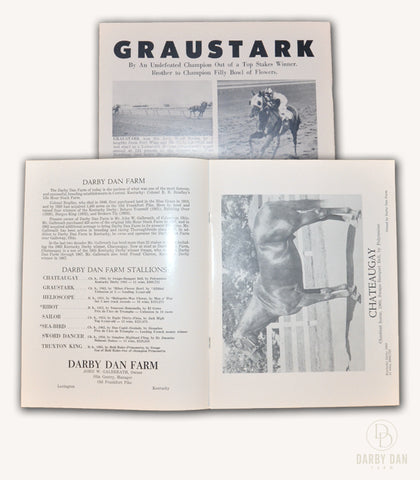 Darby Dan Farm, Stallion Brochure, 1968, Chateaugay, Graustark, Helioscope, Ribot, Sailor, Sea-Bird, Sword Dancer, Truxton King