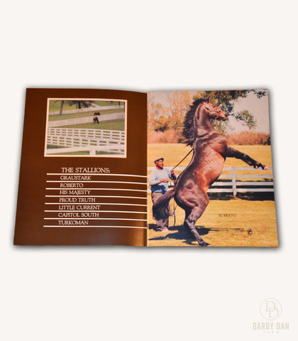 Darby Dan Stallion Brochure, Graustark, Roberto, His Majesty, Proud Truth, Little Current, Capitol South, Turkoman