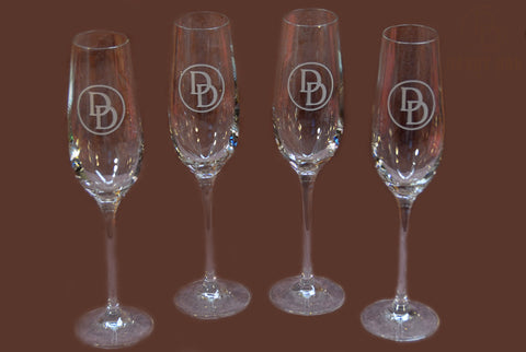 Darby Dan Champagne Glasses - Set of 4