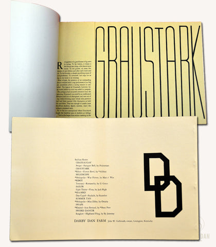 Graustark Stallion Brochure - 1966