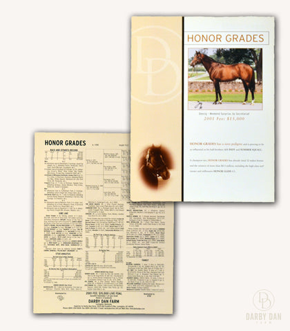 Historical Darby Dan Stallion Brochures - Ribot | Proud Truth | Meadowlake | Honor Grades | Turkoman