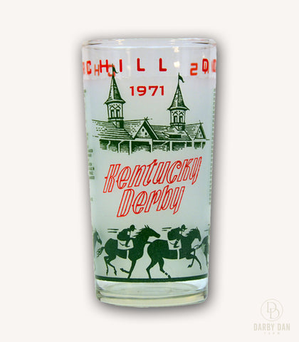 Kentucky Derby Glass 1971, Churchill Downs, Collectible