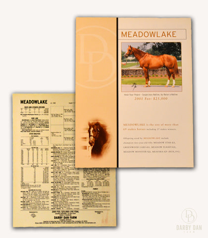 Meadowlake Stallion Brochure, Darby Dan Farm