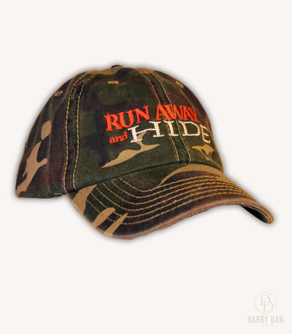 Run Away and Hide Camo Hat
