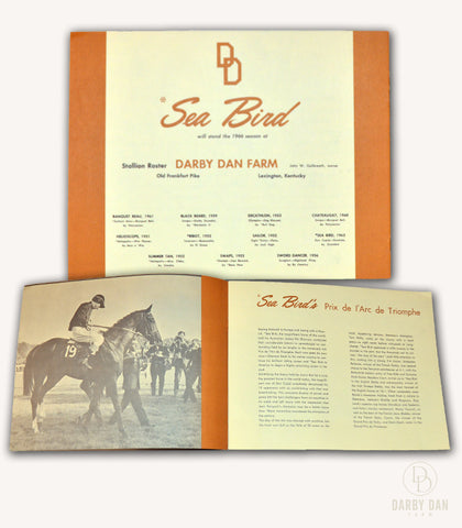 Sea Bird, Stallion Brochure, Collectors Item, Darby Dan Farm