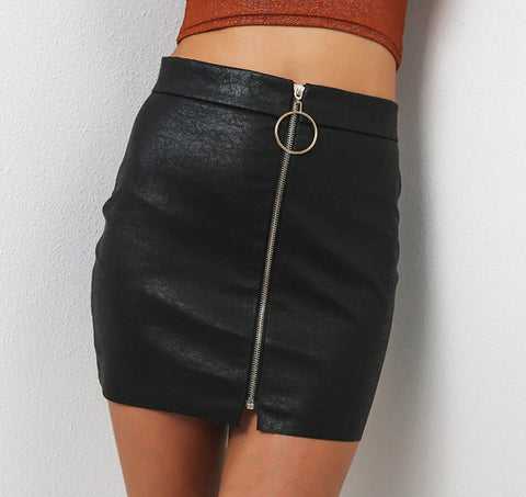 Harlibell Faux Leather Skirt