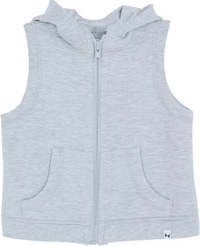 LIGHT GREY HOODED VEST