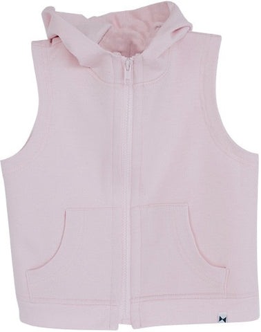 LIGHT PINK HOODED VEST