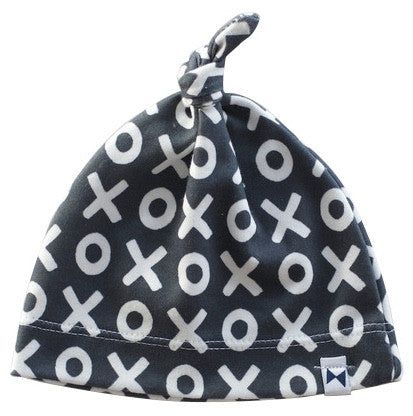 NAVY XO KNOTTED HAT