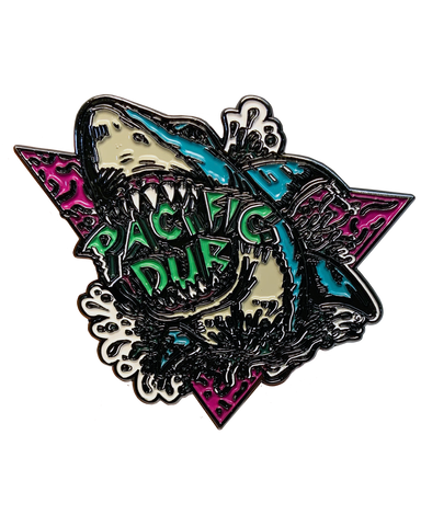 "Limited Edition Pacific Dub ""Shark""  2"" pin"