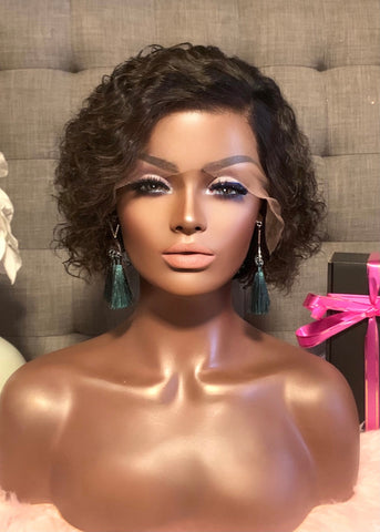 """Bianca"" Glueless 8"" Deep Wave Wig"