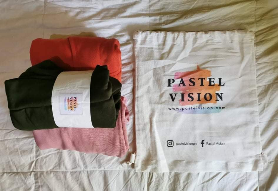 Pastel Vision Hoodies and Draw String Bag