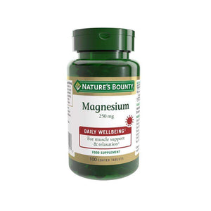 Nature's Bounty Magnesium 250 mg Tablets - Pack of 100