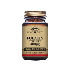 Solgar Folacin (Folic Acid) 400 µg Tablets - Pack of (100/250)