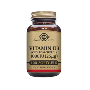 Solgar Vitamin D3 1000 IU (25 µg) Softgels - Pack of 100