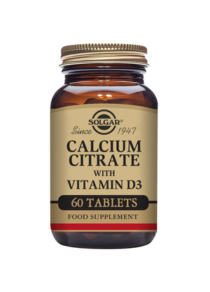 Solgar® Calcium Citrate with Vitamin D3 Tablets - Pack of 60