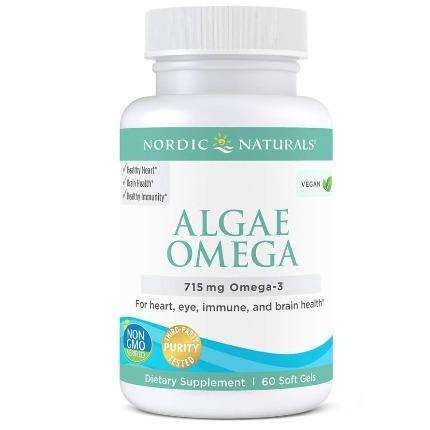 Algae Omega Nordic Naturals Vegetarian and Vegan friendly (60/ 120 )Softgel