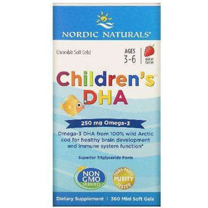 Children's DHA Nordic Naturals Strawberry 360 softgels