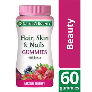 Nature's Bounty® Hair, Skin and Nails Gummies with Biotin - Pack of 60