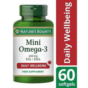 Nature's Bounty Mini Omega-3 Softgels (60)
