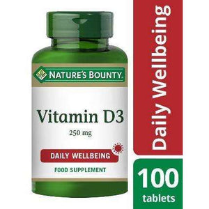 Nature's Bounty® Vitamin D3 25 µg (1000 IU) Tablets - Pack of 100