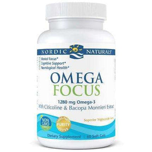 Omega Focus with Citicoline & Bacopa Monnieri Extract Nordic Naturals 60 softgels