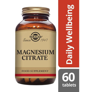 Solgar® Magnesium Citrate Tablets - Pack of 60