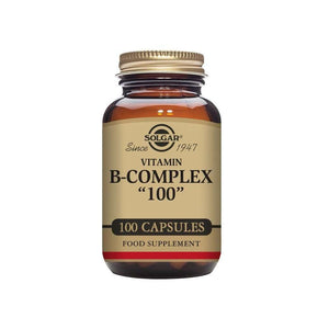 "Solgar® Vitamin B-Complex ""100"" Extra High Potency Vegetable Capsules 100"