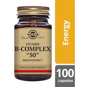 "Solgar® Vitamin B-Complex ""50"" High Potency Vegetable Capsules 100"