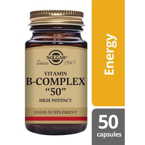 Solgar® Vitamin B-Complex ''50'' High Potency Vegetable Capsules - Pack of 50