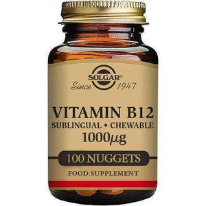 Solgar® Vitamin B12 1000 µg - Chewable Nuggets - Pack of 100