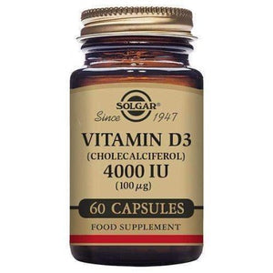 Solgar Vitamin D3 (Cholecalciferol) 4000IU 60 Vegetable Capsules