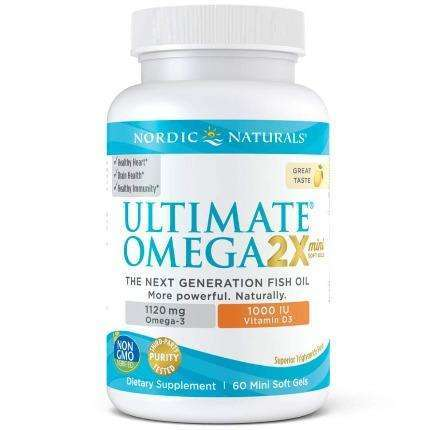 Ultimate Omega 2X Mini with Vitamin D3 Nordic Naturals 60 softgels