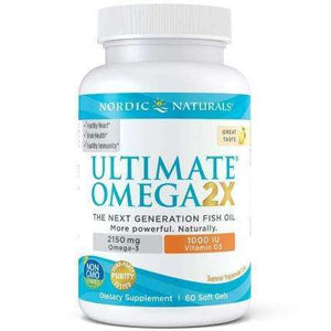 Ultimate Omega 2X with Vitamin D3 Nordic Naturals 60 softgels