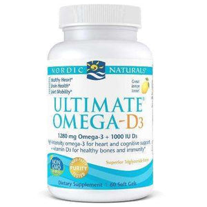Ultimate Omega-D3 Nordic Naturals 1280mg Lemon - (60/120) solfgels