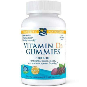Vitamin D3 Gummies Nordic Naturals 1000 IU Wild Berry -60 gummies