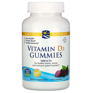 Vitamin D3 Gummies Nordic Naturals 1000 IU Wild Berry - (60/120) gummies