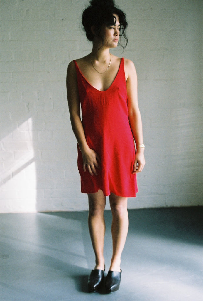 Midnight the Label Red Slip Dress