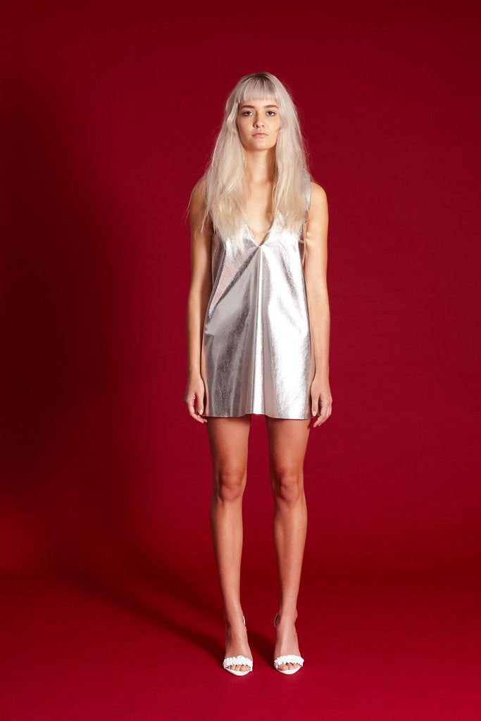 SOLD OUT Midnight the Label Deep V Mini Silver