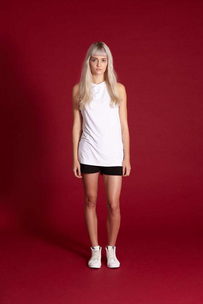 Midnight the Label Twist Tank White