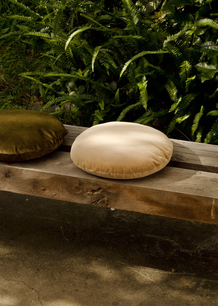 Klay Velvet Squab Cushion - Ginger Root Tan