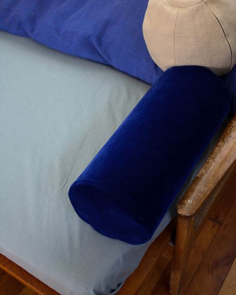 Klay Bolster Cushion - Blue Velvet